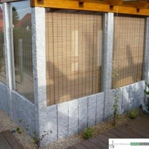 Sichtschutz, Glaselemente und Granit