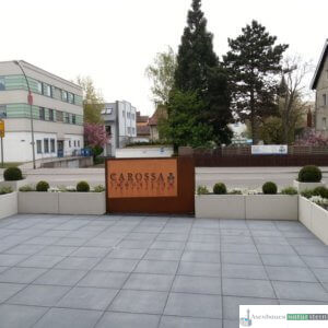 Plattenbelag Beton La Senza, 50x50x8 Farbe Carbon
