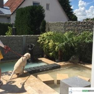 Sauna-Tauchbecken im mediterranen Stil