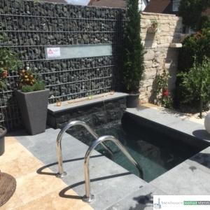Sauna-Tauchbecken modern
