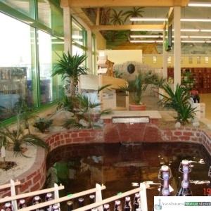 Teichanlage, Getränkemarkt Fleischmann in Ergolding