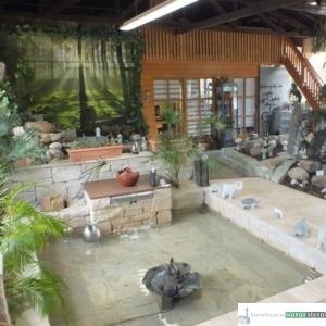 Teichanlage im mediterranen Stil