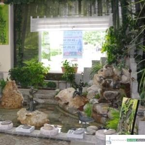 Teichanlage mit Kaskarden