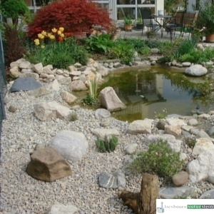 Teichanlage im natürlichen Stil