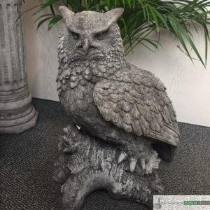 Englischer Antiksteinguss: 018. Eagle Owl, h 60 cm