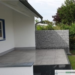 Terrasse aus Feinstein Betonoptik