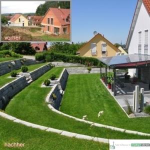 Granit-Mauersteine 40x20xh20 cm