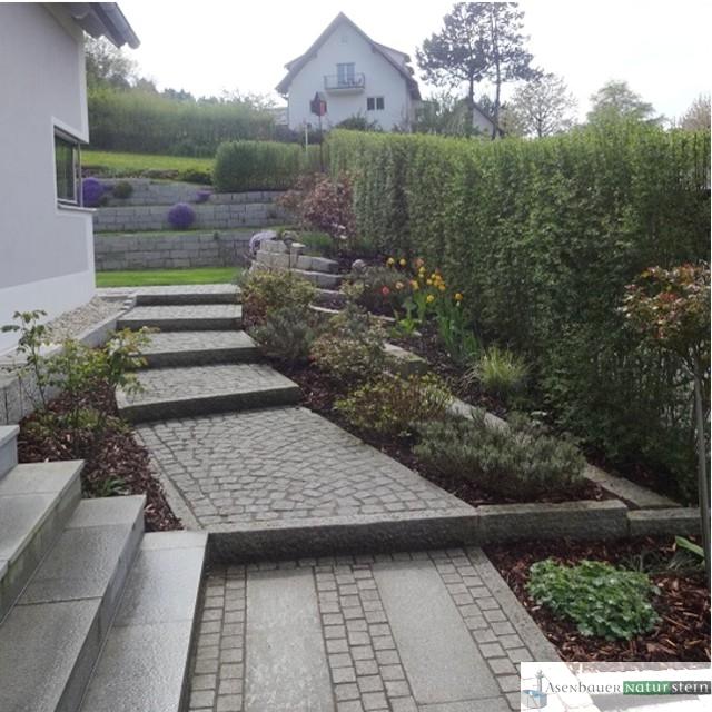 Garten mit modernen Akzenten – Asenbauer Naturstein