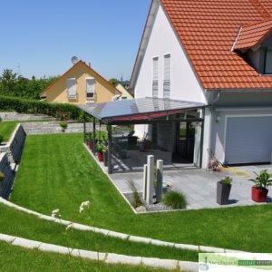 Terrassenbelag Granit dunkelgrau geflammt 60x40x3 cm