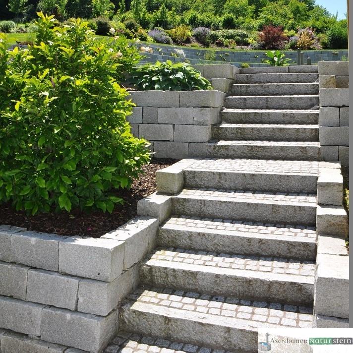 Garten mit modernen akzenten asenbauer naturstein - Naturstein post ...