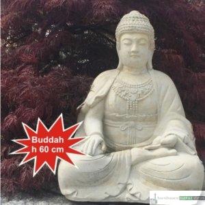 Englischer Antiksteinguss: Buddah aus Betonguss, h 60 cm