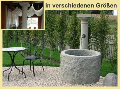 Granit Brunnen & Säulen