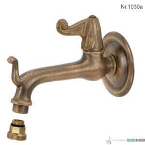 """Messing Wasserhahn mit 1/2""""Anschluss, 16 cm, ohne Rosette"""