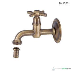"""Messing Wasserhahn mit 1/2""""Anschluss, 14 cm, ohne Rosette"""