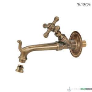 """Messing Wasserhahn mit 1/2""""Anschluss, 17 cm, ohne Rosette"""