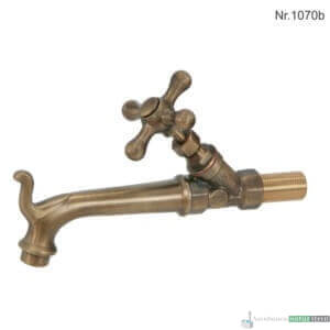 """Messing Wasserhahn mit 3/4""""Anschluss, 22,5 cm, ohne Rosette"""