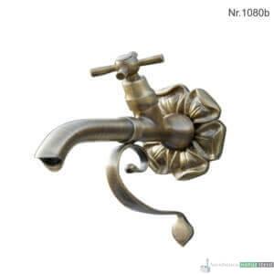 """Messing Wasserhahn mit 1/2"""" Anschluss, 21 cm, h 23 cm"""