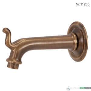 """Messing Wasserhahn ohne Absperrventil mit 3/4""""Anschluss, 15,5 cm, ohne Rosette"""