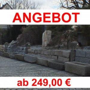 antiker Granit- Pflanztröge klein/ Boan, jeder Trog ein Einzelstück