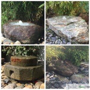 Granit-Überläufe und Schieferstein
