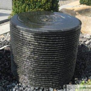 Rillen Zylinder, inkl. Wasserauffangbecken, Pumpe und LED