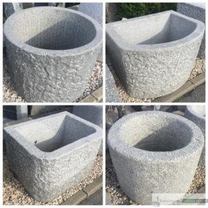 Granit Brunnen, in verschiedenen Größen, Formen und Farben